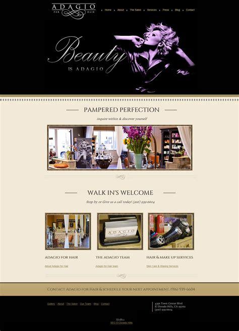 hairstyle design website adagio for hair website design el dorado hills ca
