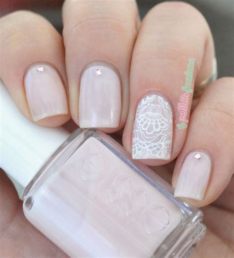 Simple Lace Wedding Nails essie bridal collection 2015 review wedding nailart