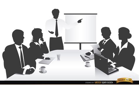 business meeting people silhouettes vector download
