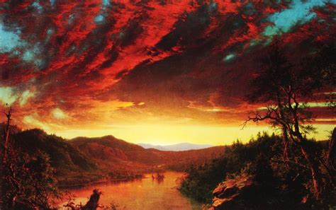 painting twilight frederic edwin church twilight in the wilderness