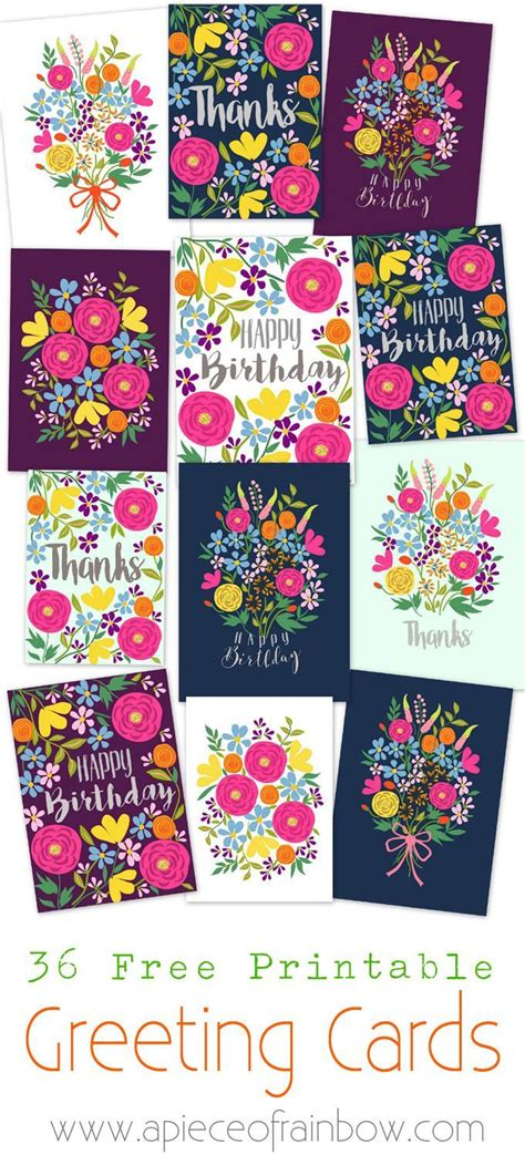 Make Your Own Greeting Cards Templates by Free Printable Flower Greeting Cards