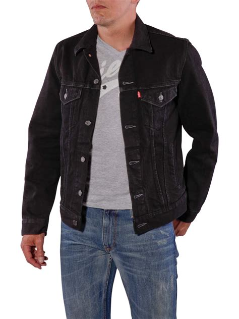 Levis Jacket 1 levi s trucker jacket black levi s s jacket mcjeans ch
