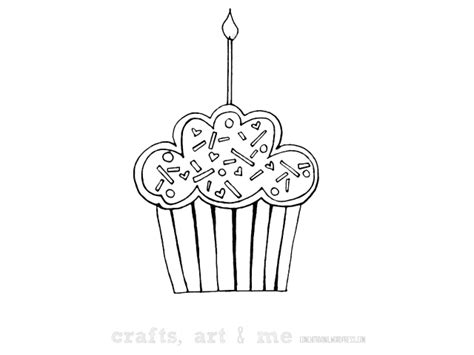 birthday cupcake coloring page colorear cupcakes coloring pages