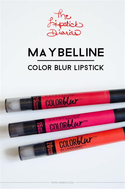 Lipstik Maybelline Color Blur the lipstick diaries maybelline color blur lipstick ashbam