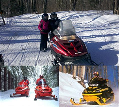 Snowmobile Rental Door County by Hayward Wisconsin Snowmobile Vacation Lodging