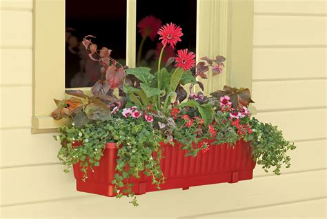 Planter Box Plants Ideas by Color Wall Mounted Window Plastic Planter Box With