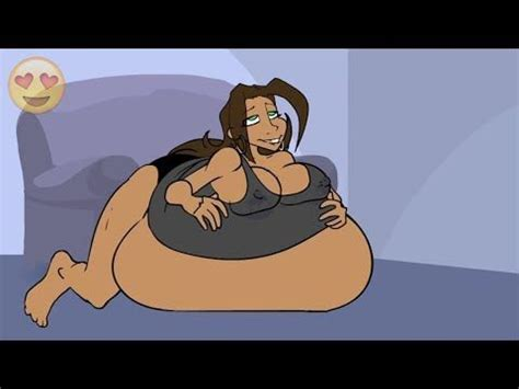 cartoon female belly inflation youtube