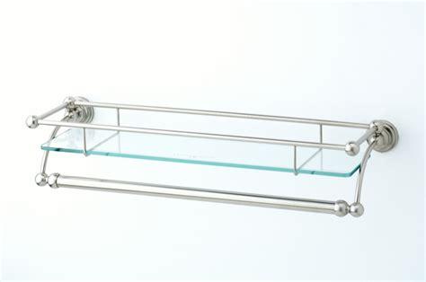 glass shelf with towel rail the bath businessthe bath