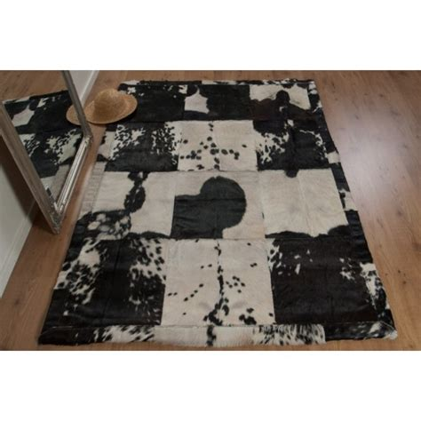 Rectangular Cowhide Rug Real Rug Majestic Patchwork Rectangular Cowhide Rug