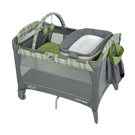 Graco Pack N Play Changing Table Attachment Graco Pack N Play Playard Reversible Napper Changer Bassinet Green New Ebay