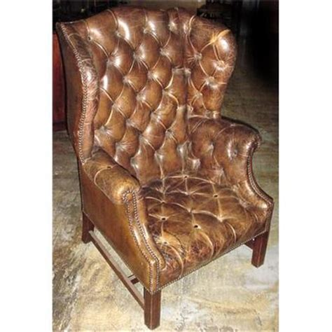 hatton tufted wingback leather chair 19th c tufted leather wingback chair 889764