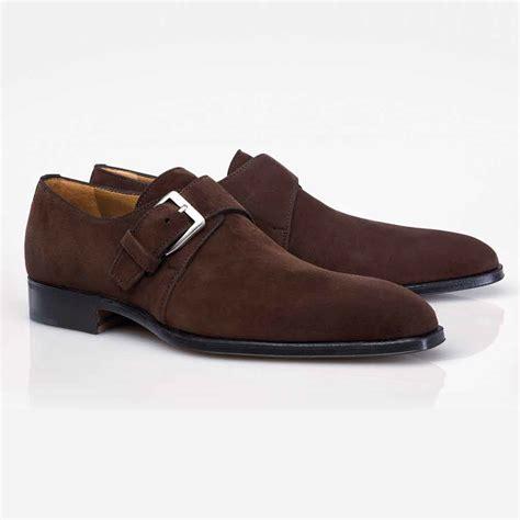 Suede Shoes by Stemar Cremona Suede Monk Shoes Mensdesignershoe