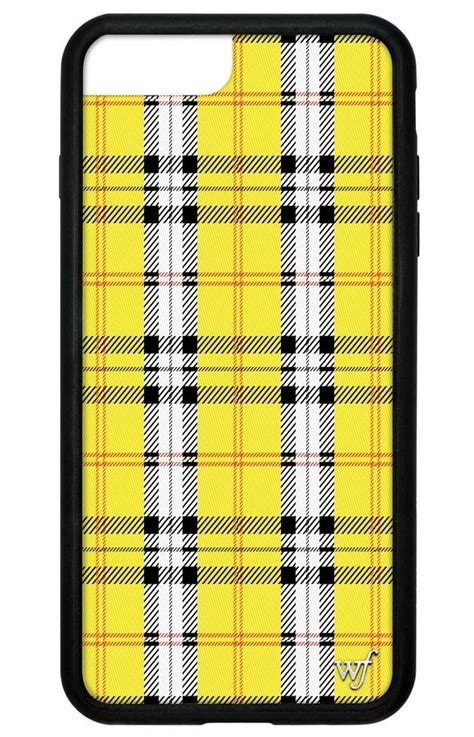 yellow plaid iphone 6 7 8 plus wildflower cases