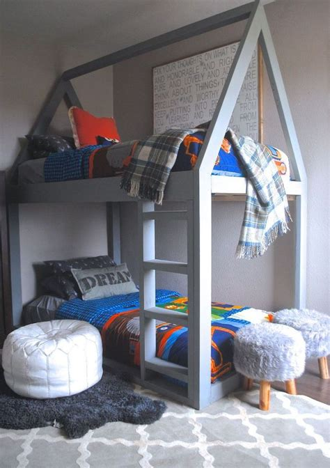how to build a bunk bed build a house bunk bed hometalk