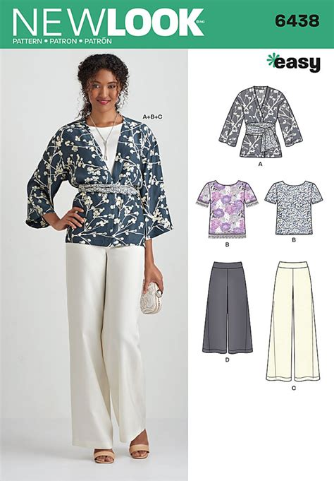 new pattern jeans 2016 new look 6438 misses easy pants kimono and top