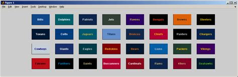 nfl colors nflcolor file exchange matlab central
