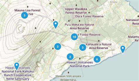 volcanoes in hawaii map best trails in hawaii volcanoes national park alltrails