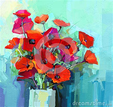 1470978512 la vie dans la couleur peinture 224 l huile la vie toujours de fleur rouge et