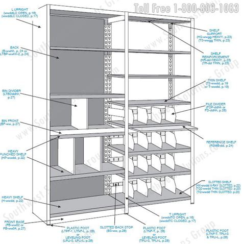 The Shelf Parts by Four Post Steel Shelving Component Parts Spacesaver