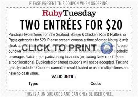 printable job application for ruby tuesdays smart moms saving money ruby tuesday 2 meals for only 20