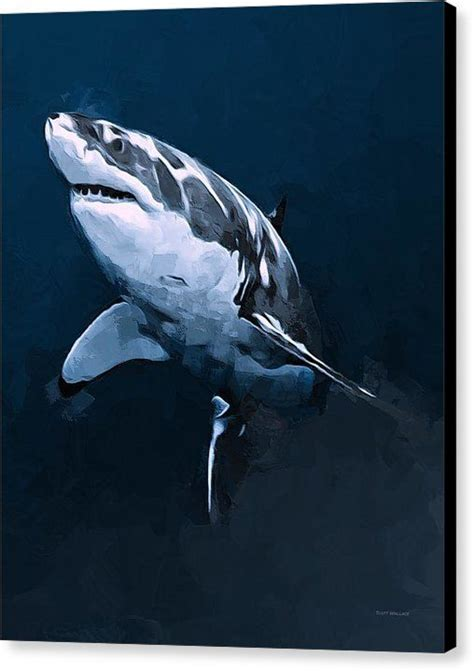 great acrylic paint great white shark painting www pixshark images