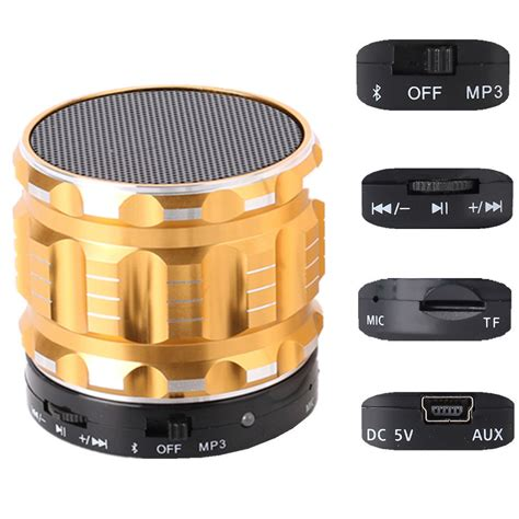 Speaker Bluetooth Mini Metal Bass Portable Bluetooth Speaker Pr 1 mini stereo portable bluetooth speaker bass metal steel speakers with fm radio support tf