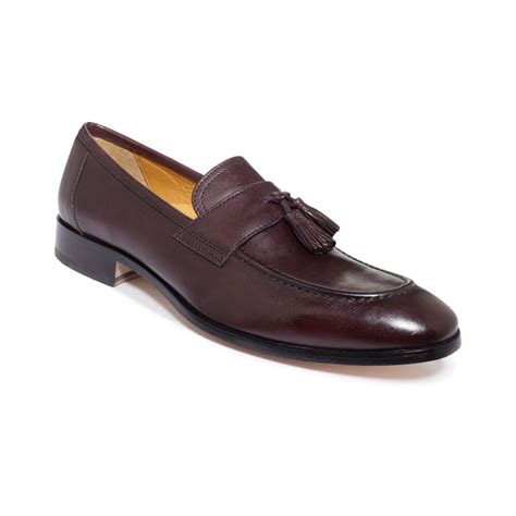 burgundy loafers for johnston murphy kimball tassel loafers in purple for