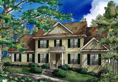 Traditional Colonial House Plans by Traditional Colonial Home 26642gg Architectural