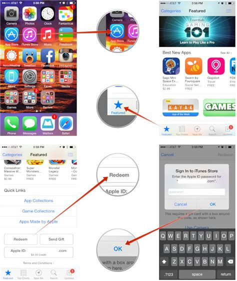How To Use Itunes Gift Card For App Store - how to redeem gift cards and app promo codes straight from your iphone and ipad imore