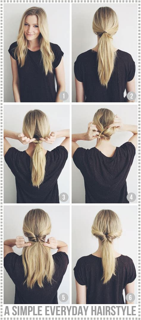 easy hairstyles everyday use a simple everyday hairstyle passions for fashion nice