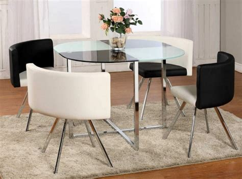Dining Table Designs For Small Spaces Glass Top Dining Table Ideas For Small Spaces With Stainless Steel Table Legs Decolover Net