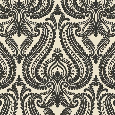 imperial black modern damask wallpaper bolt transitional