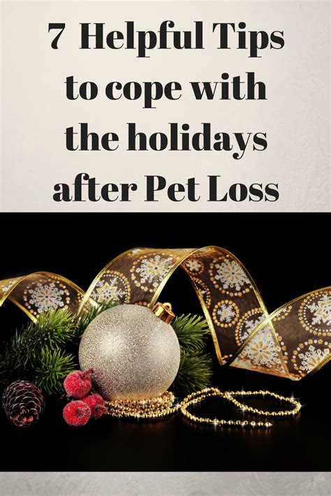 7 Secrets To Gear Up For The Holidays by 7 Helpful Tips To Cope With The Holidays After Pet Loss