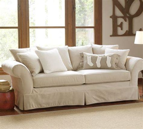 charleston slipcover charleston grand sofa pottery barn