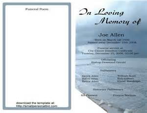 Funeral programs printables templates samples funeral ceremonies