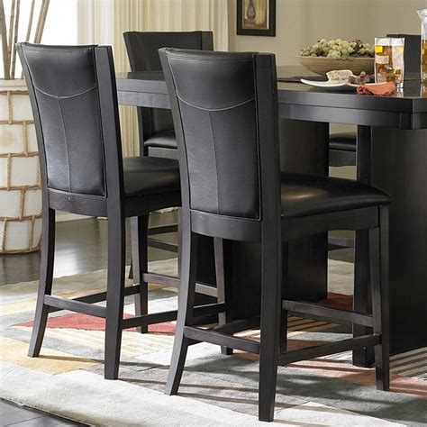 counter dining chairs trent home counter height dining chair in espresso