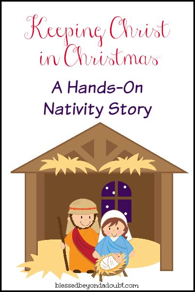 printable children s nativity story hands on nativity it s free