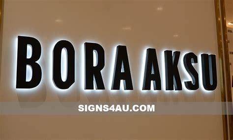 led stainless steel backlit wall signs stainless steel