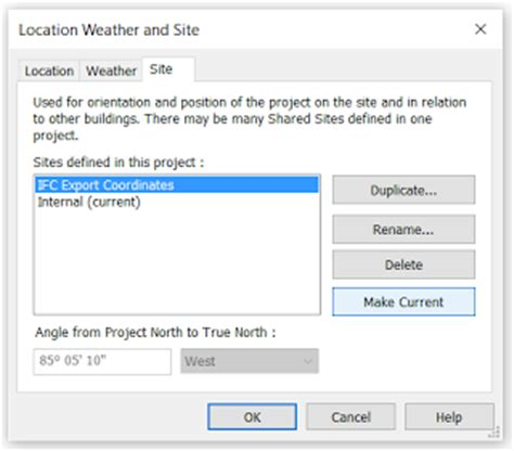 revit coordinates tutorial creating an additional site location for ifc export with