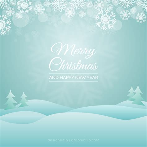 Landscape Greeting Card Template by Free Greeting Vector With Snowy