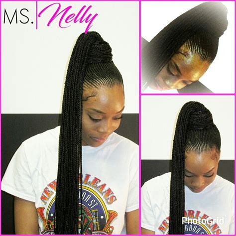 nicki minaj inspired feedin cornrows done by london s nicki minaj inspired ponytail braids by ms nelly