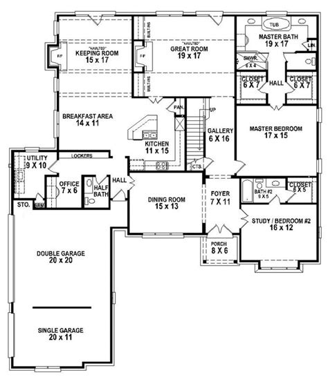 4 Bedroom 4 Bath House Plans by 654263 5 Bedroom 4 5 Bath House Plan House Plans