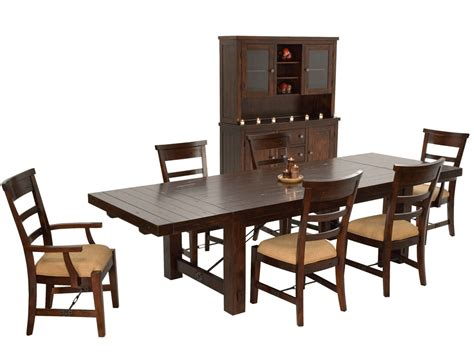 rustic mahogany dining table set mahogany china cabinet