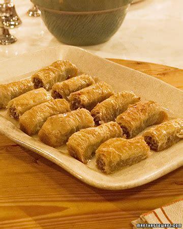 rolled baklava recipe martha stewart