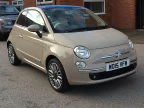 Beige Fiat 500 Fiat 500 1 2 Lounge 3dr Start Stop Beige 2015 In