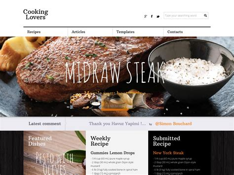 cooking blogs 80 awesome new wordpress themes webdesigner depot