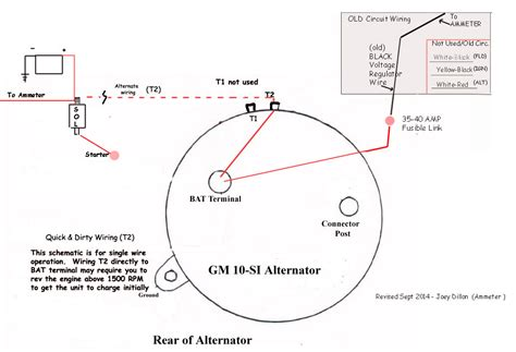 gm si alternator wiring wiring diagram schemes