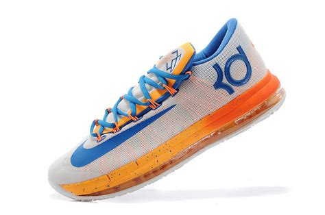nike kd 6 vi elite home white orange blue for sale