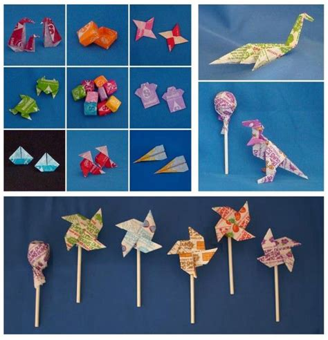 Gum Wrapper Origami - 61 best willy wonka images on wrappers