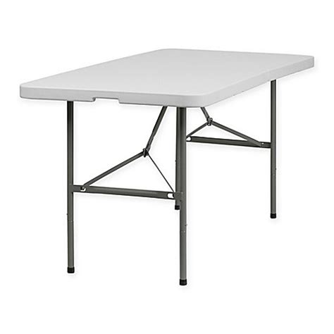 5 Ft Folding Table Buy Flash Furniture Bi Fold Plastic 5 Foot Folding Table In White From Bed Bath Beyond